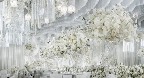 独立策划师何大卫白色系婚礼设计案例