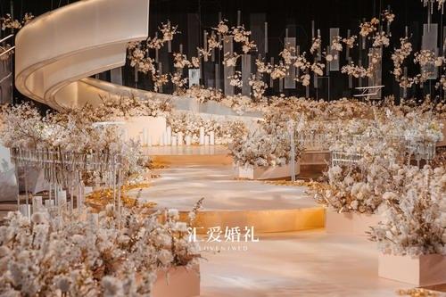 汇爱婚礼金融街丽思卡尔顿酒店婚礼布置案例