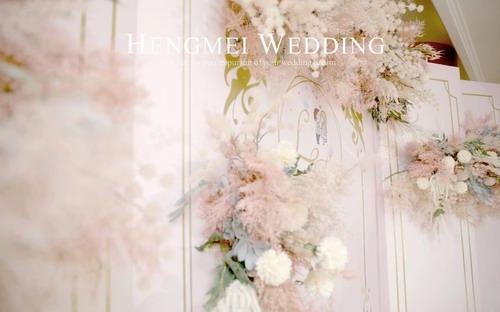 恒美婚礼:真实婚礼 | 这一场设计散发着甜蜜可爱,还渲染一种幸福的味道