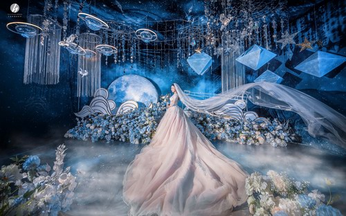 兰玉坊宴会设计婚礼策划作品《夜空中最亮的星》