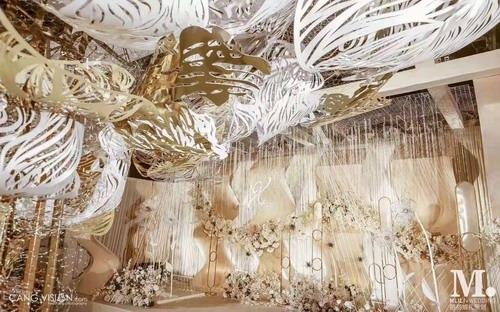 MLILI婚礼:香槟色现代风格婚礼布置