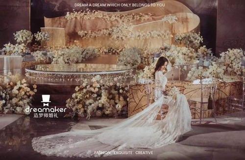 造梦师婚礼:香槟金碰撞轻奢铜,这是一场金色古典艺术婚礼