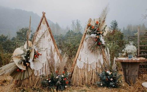 ANNE安妮宴会设计山脚下的稻田婚礼