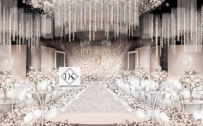 DK婚礼设计粉色系婚礼效果图