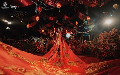 兰玉坊宴会设计婚礼策划作品《凤凰于飞  和鸣锵锵》