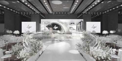 不二婚礼设计白色系婚礼作品