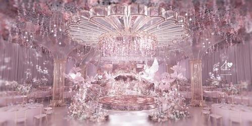 不二婚礼设计粉色系婚礼作品