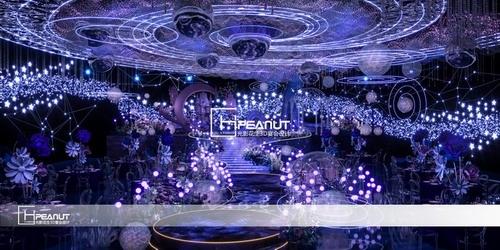 光影花生《星河》梦幻婚礼堂3D效果图