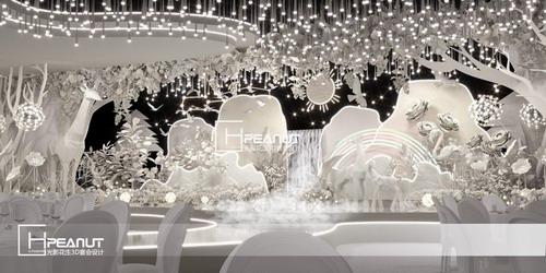 光影花生《森林王国》纸艺婚礼堂3D设计