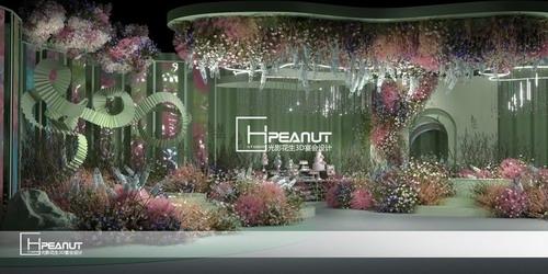 光影花生绿色婚礼迎宾区3D设计效果图