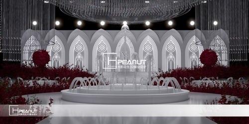 光影花生《简爱》简欧水晶婚礼堂3D设计效果图