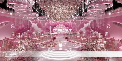 光影花生《梦境》粉色婚礼堂3D设计效果图