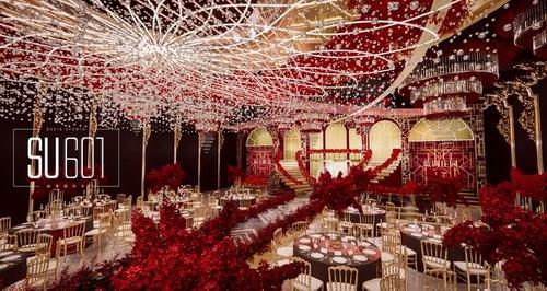 su601红金色系婚礼设计效果图