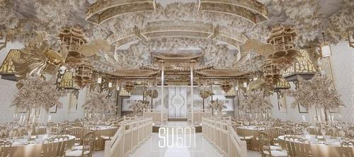 su601新中式婚礼设计效果图