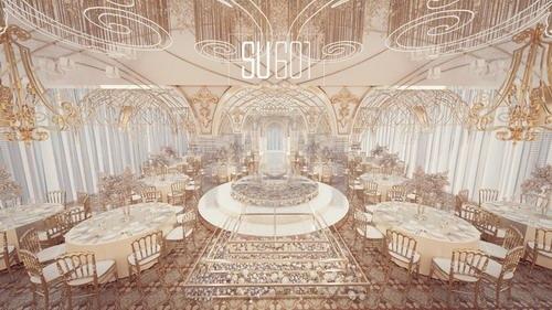 su601香槟色系婚礼设计效果图