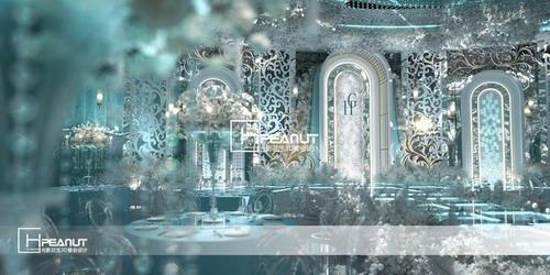 光影花生轻奢简约风婚礼堂3D设计